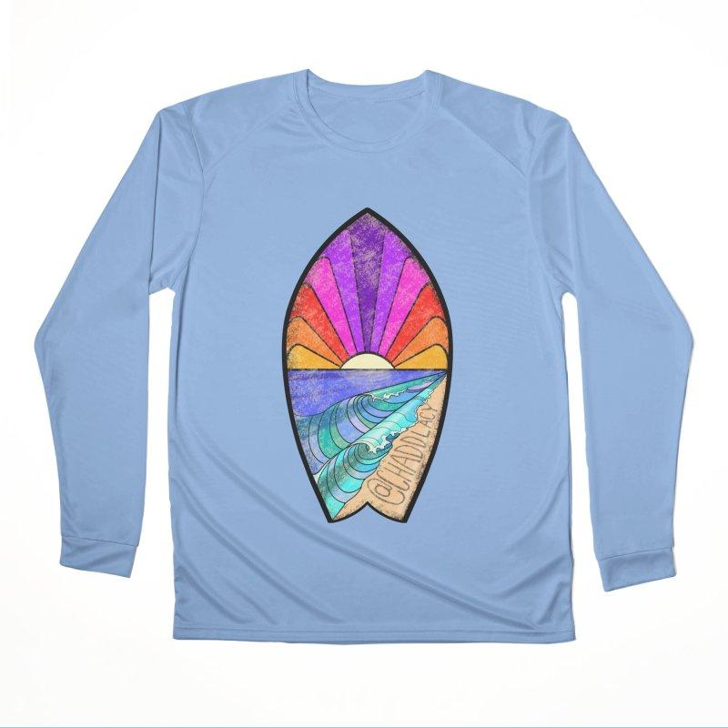 Sunset Surfboard Women's Performance Unisex Longsleeve T-Shirt by Babedrienne's Artist Shop