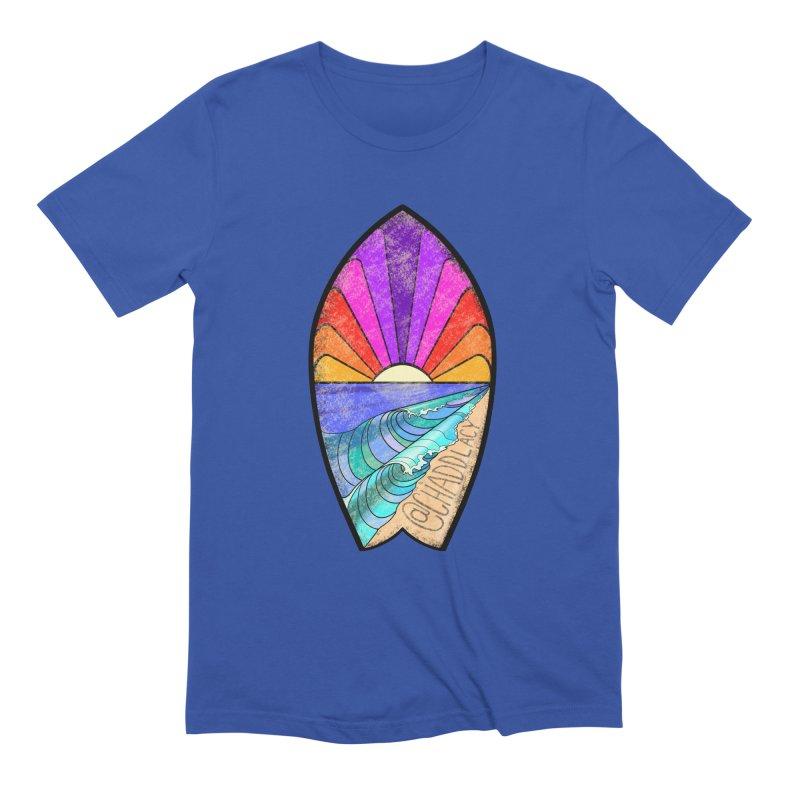 Sunset Surfboard Men's Extra Soft T-Shirt by Babedrienne's Artist Shop