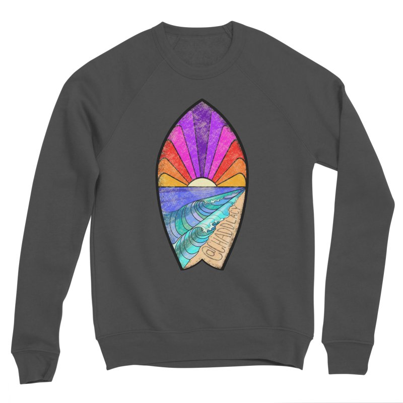 Sunset Surfboard Women's Sponge Fleece Sweatshirt by Babedrienne's Artist Shop