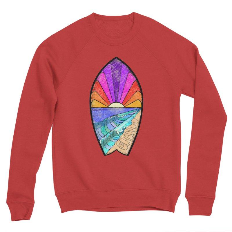 Sunset Surfboard Men's Sponge Fleece Sweatshirt by Babedrienne's Artist Shop