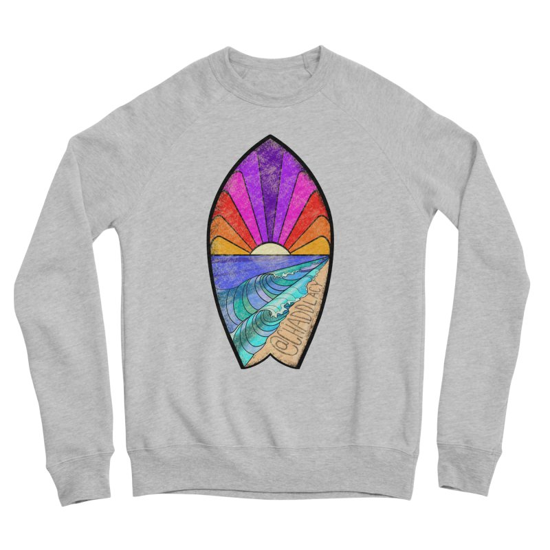 Sunset Surfboard Men's Sponge Fleece Sweatshirt by Babedrienne's Artist Shop