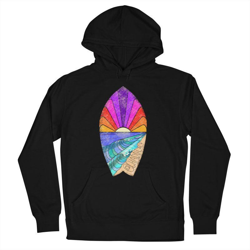 Sunset Surfboard Women's French Terry Pullover Hoody by Babedrienne's Artist Shop