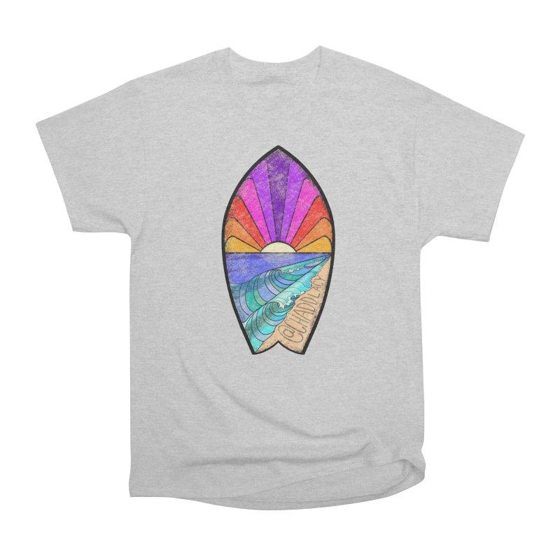 Sunset Surfboard Women's Heavyweight Unisex T-Shirt by Babedrienne's Artist Shop