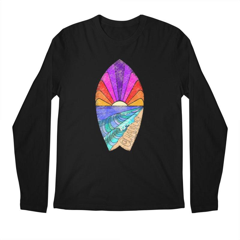 Sunset Surfboard Men's Regular Longsleeve T-Shirt by Babedrienne's Artist Shop