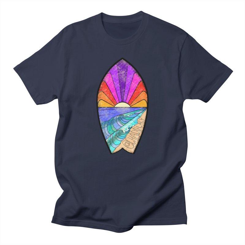 Sunset Surfboard Men's Regular T-Shirt by Babedrienne's Artist Shop