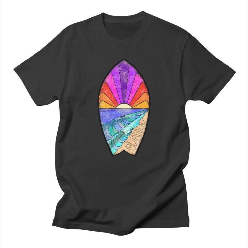 Sunset Surfboard Women's Regular Unisex T-Shirt by Babedrienne's Artist Shop