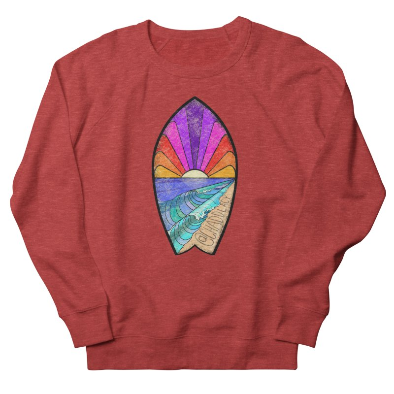 Sunset Surfboard Women's French Terry Sweatshirt by Babedrienne's Artist Shop