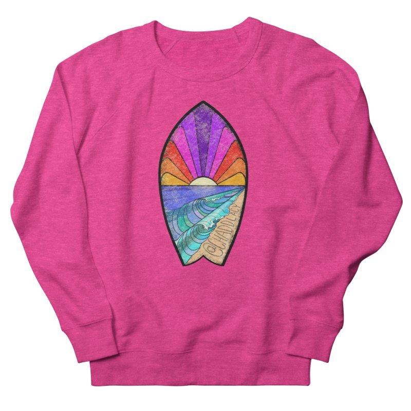 Sunset Surfboard Women's French Terry Sweatshirt by Babedrienne's Artist Shop