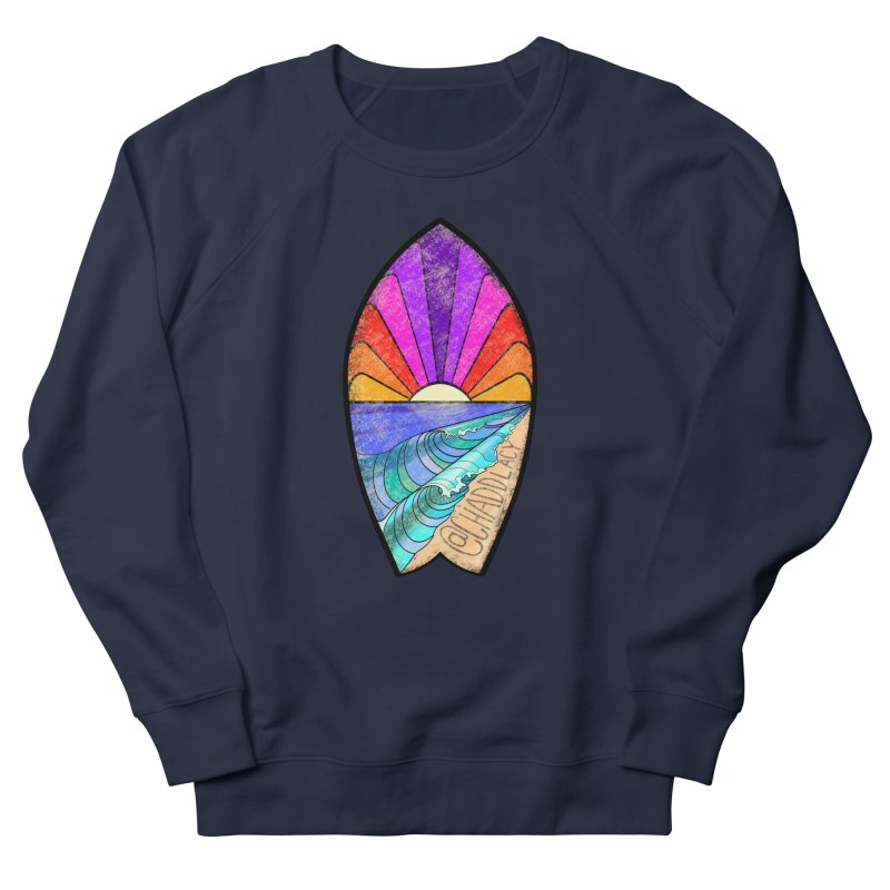 Sunset Surfboard Men's French Terry Sweatshirt by Babedrienne's Artist Shop