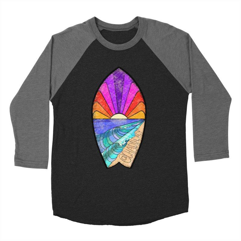 Sunset Surfboard Women's Baseball Triblend Longsleeve T-Shirt by Babedrienne's Artist Shop