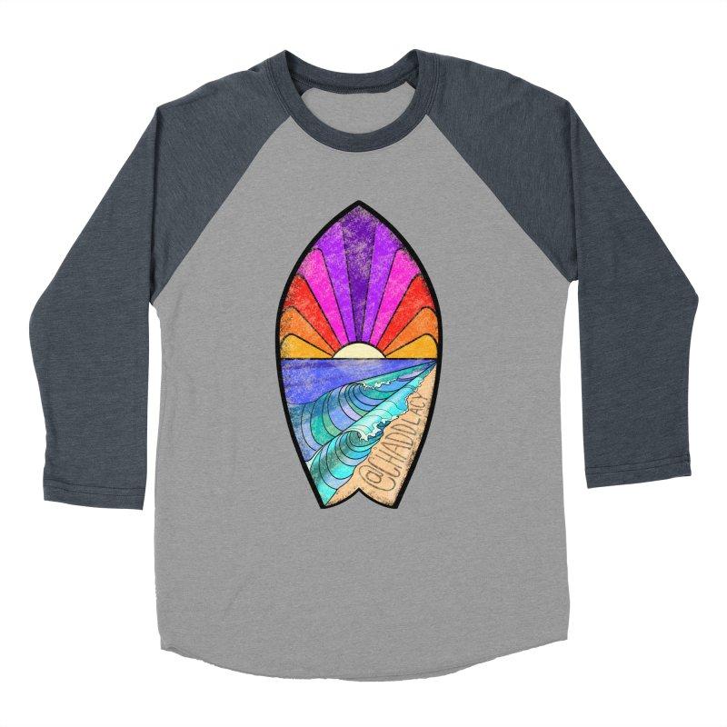 Sunset Surfboard Men's Baseball Triblend Longsleeve T-Shirt by Babedrienne's Artist Shop