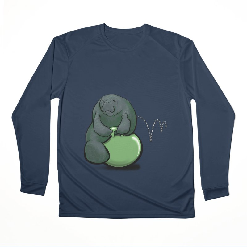 Bouncy Ball Manatee Men's Performance Longsleeve T-Shirt by Babedrienne's Artist Shop
