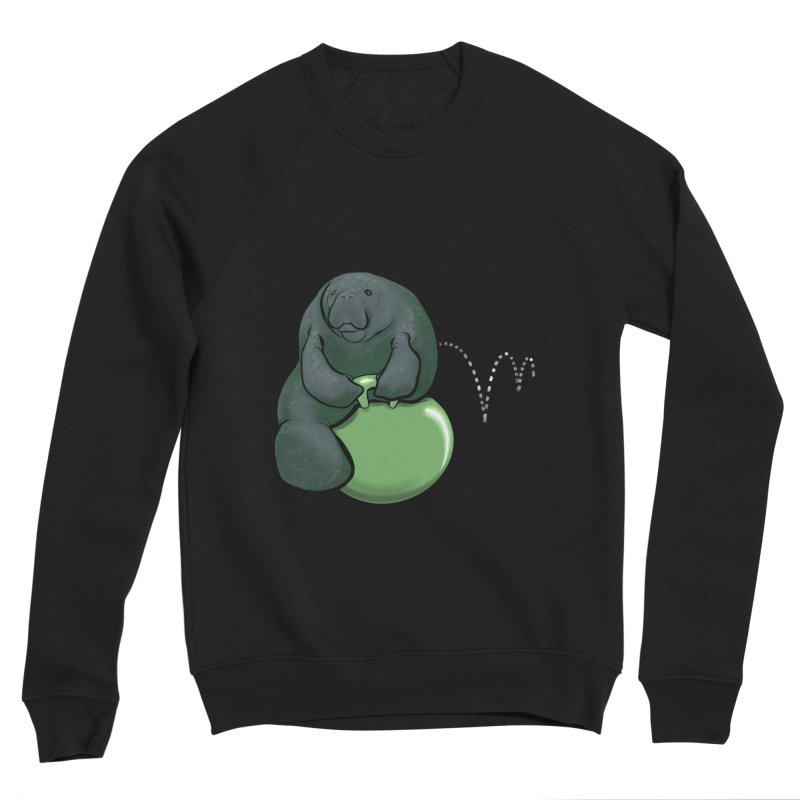 Bouncy Ball Manatee Men's Sponge Fleece Sweatshirt by Babedrienne's Artist Shop