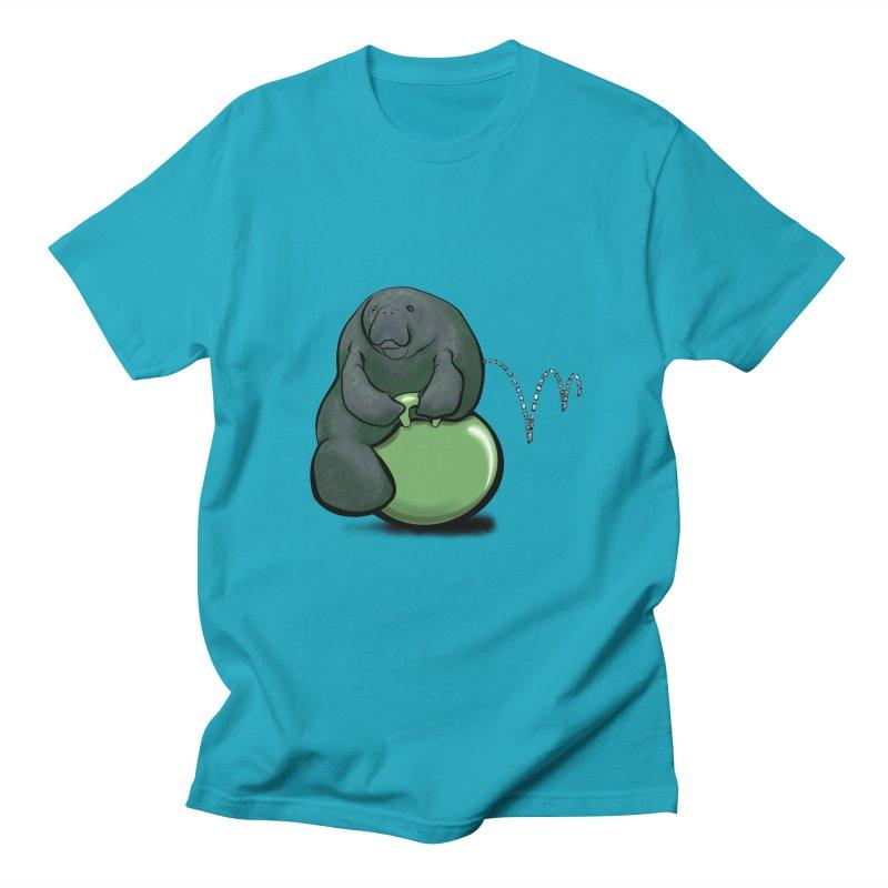 Bouncy Ball Manatee Women's Regular Unisex T-Shirt by Babedrienne's Artist Shop