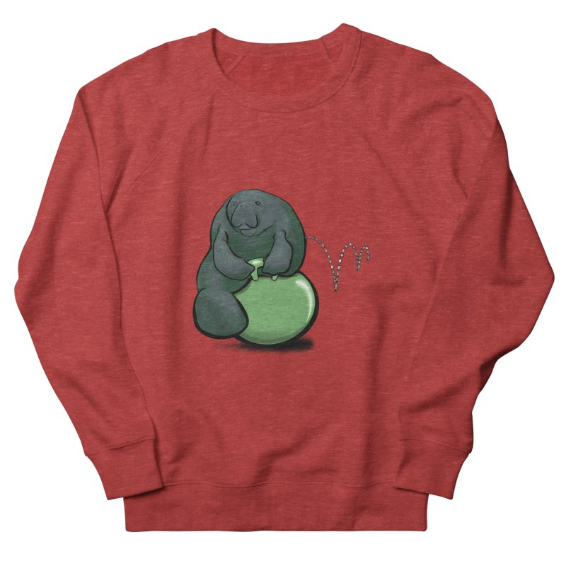 Bouncy Ball Manatee Men's French Terry Sweatshirt by Babedrienne's Artist Shop