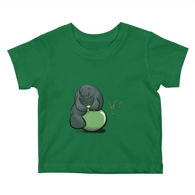 Bouncy Ball Manatee Kids Baby T-Shirt by Babedrienne's Artist Shop
