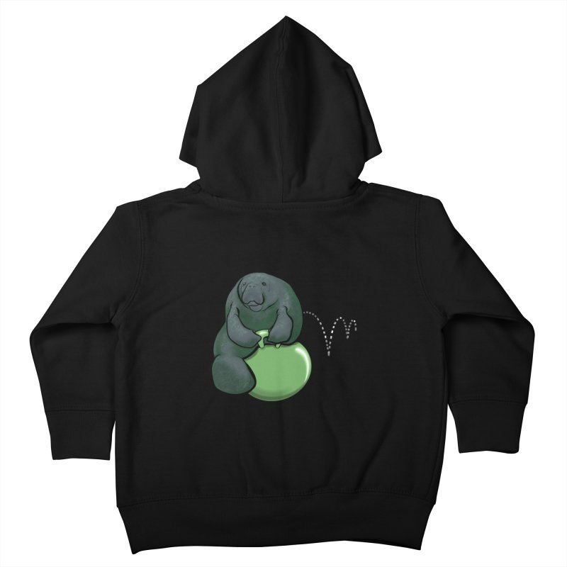 Bouncy Ball Manatee Kids Toddler Zip-Up Hoody by Babedrienne's Artist Shop
