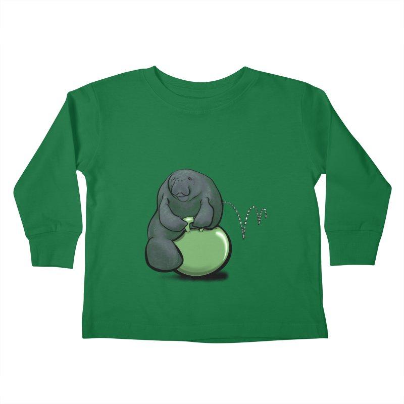 Bouncy Ball Manatee Kids Toddler Longsleeve T-Shirt by Babedrienne's Artist Shop