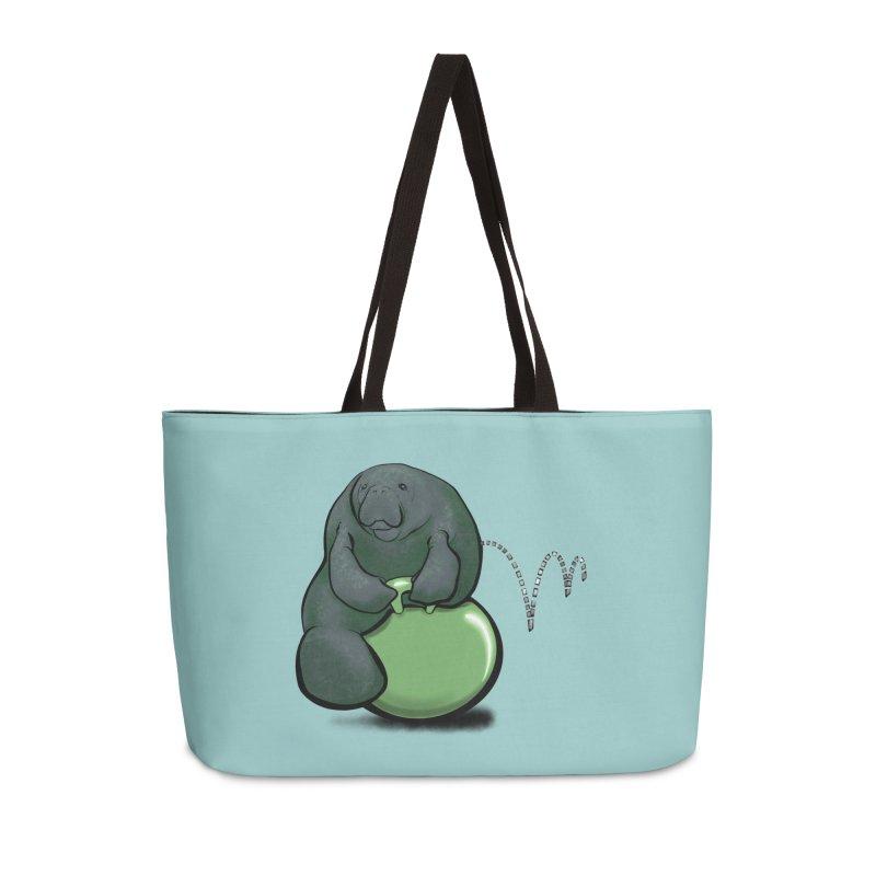 Bouncy Ball Manatee Accessories Weekender Bag Bag by Babedrienne's Artist Shop