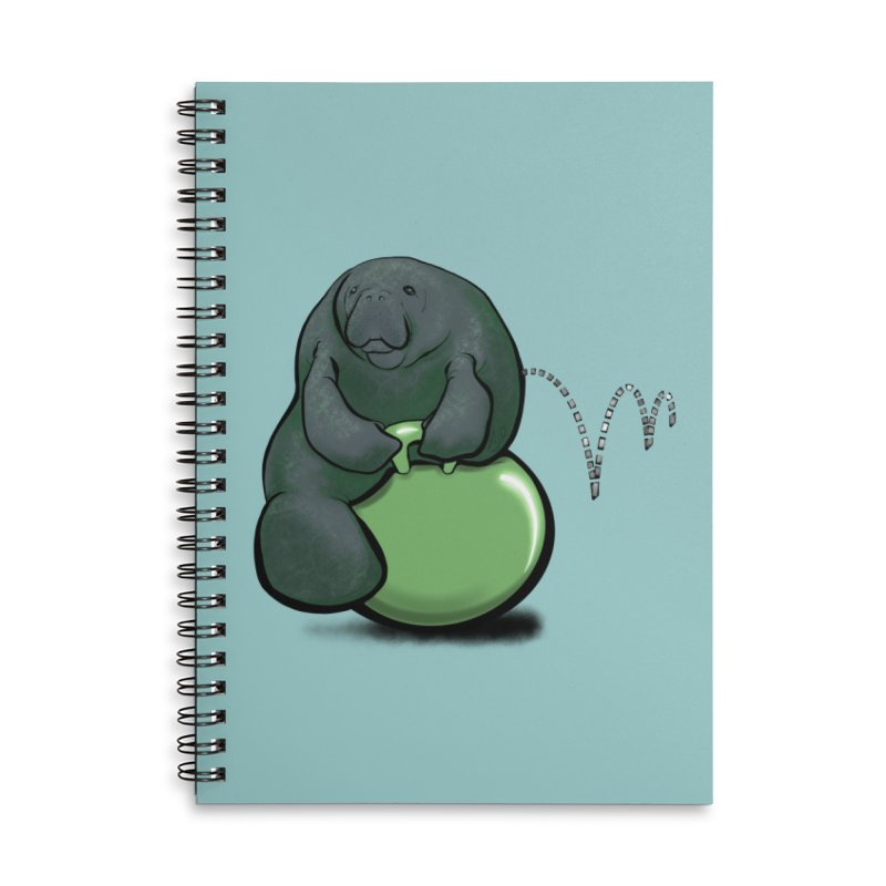 Bouncy Ball Manatee Accessories Lined Spiral Notebook by Babedrienne's Artist Shop