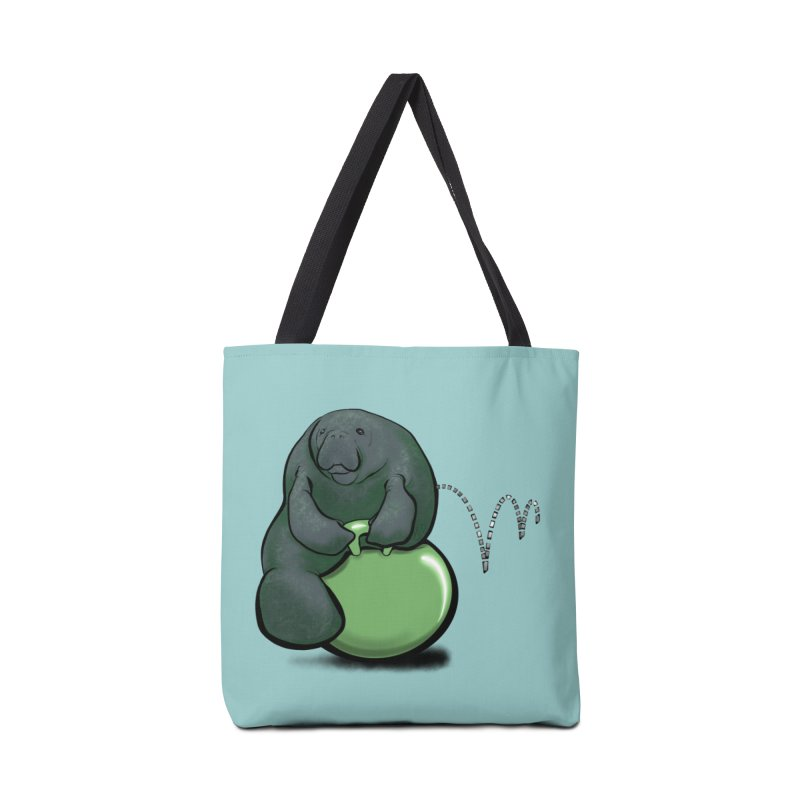 Bouncy Ball Manatee Accessories Tote Bag Bag by Babedrienne's Artist Shop