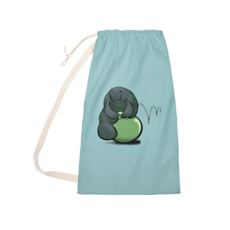Bouncy Ball Manatee Accessories Bag by Babedrienne's Artist Shop