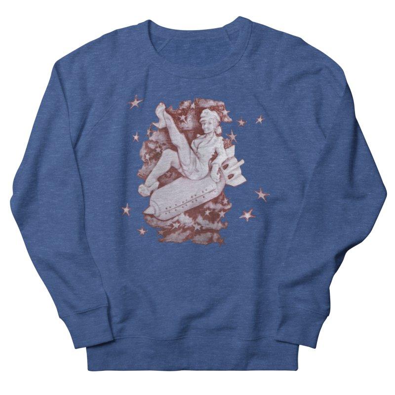 Pinup Bomber Girl Men's Sweatshirt by Babedrienne's Artist Shop