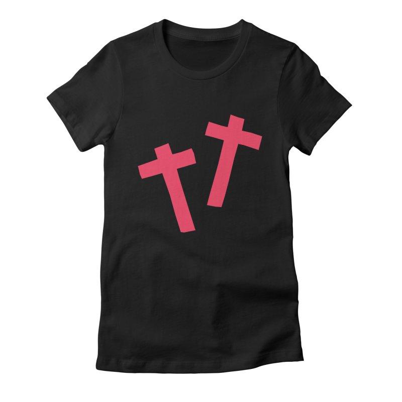 †† Women's Fitted T-Shirt by †  B A C Ŧ E R I A  †