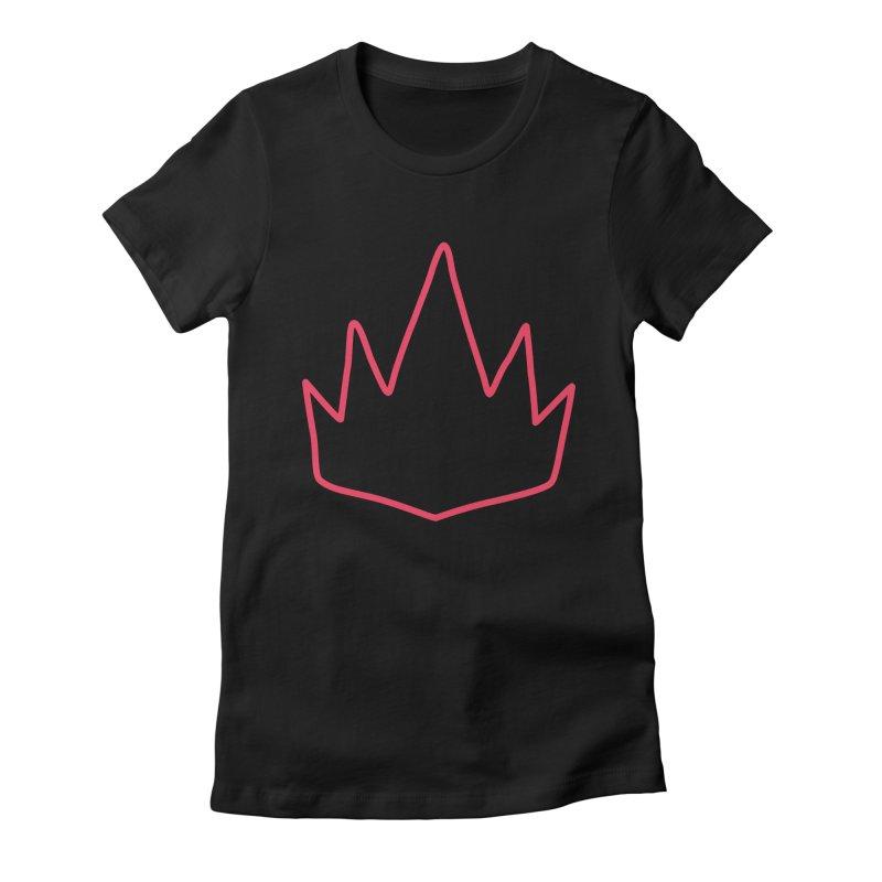 The Crown Women's Fitted T-Shirt by †  B A C Ŧ E R I A  †