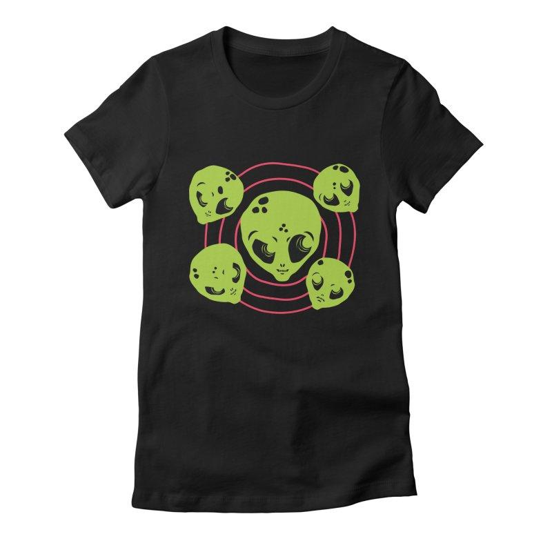 g a l a x y b o y s Women's Fitted T-Shirt by †  B A C Ŧ E R I A  †
