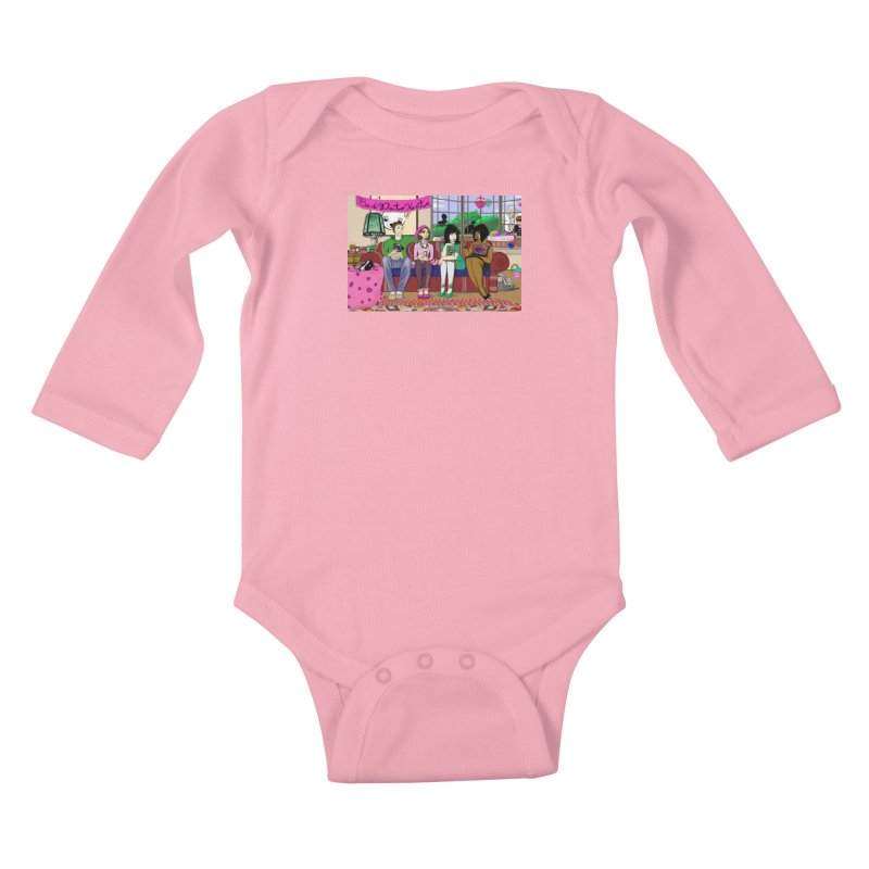 Bad Date Kate Animated Series Kids Baby Longsleeve Bodysuit by Bad Date Kate's Artist Shop