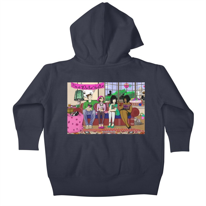 Bad Date Kate Animated Series Kids Baby Zip-Up Hoody by Bad Date Kate's Artist Shop