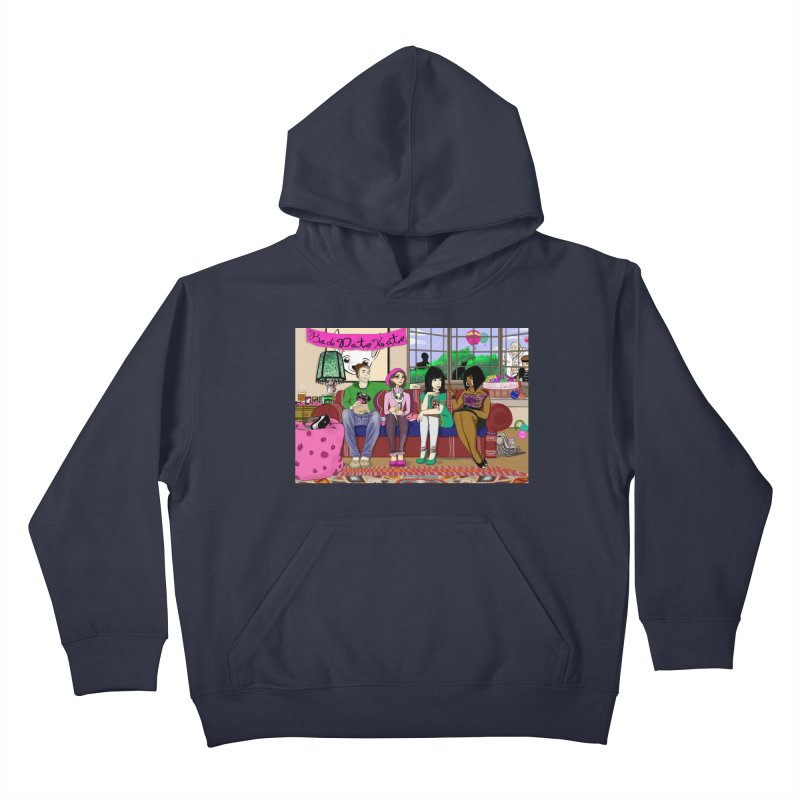 Bad Date Kate Animated Series Kids Pullover Hoody by Bad Date Kate's Artist Shop