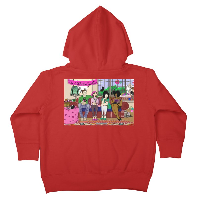 Bad Date Kate Animated Series Kids Toddler Zip-Up Hoody by Bad Date Kate's Artist Shop