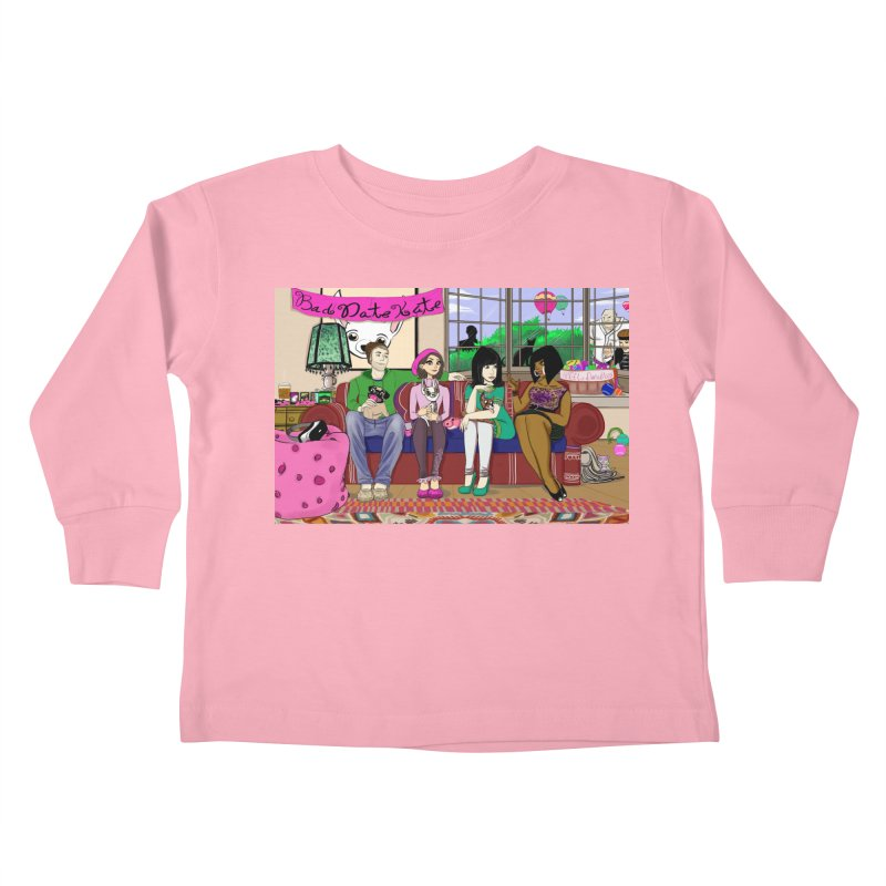 Bad Date Kate Animated Series Kids Toddler Longsleeve T-Shirt by Bad Date Kate's Artist Shop