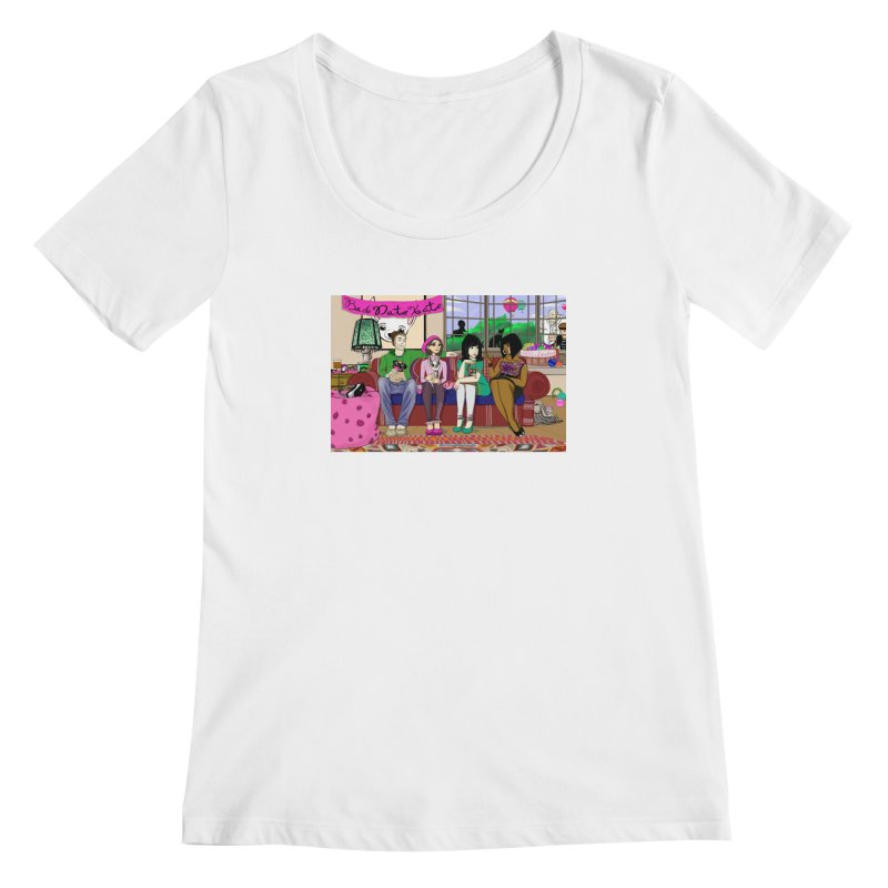 Bad Date Kate Animated Series Women's Scoopneck by Bad Date Kate's Artist Shop