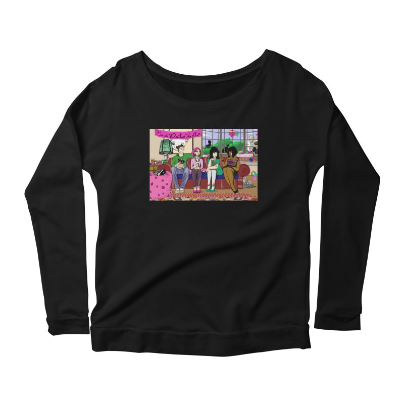 Bad Date Kate Animated Series Women's Longsleeve Scoopneck  by Bad Date Kate's Artist Shop