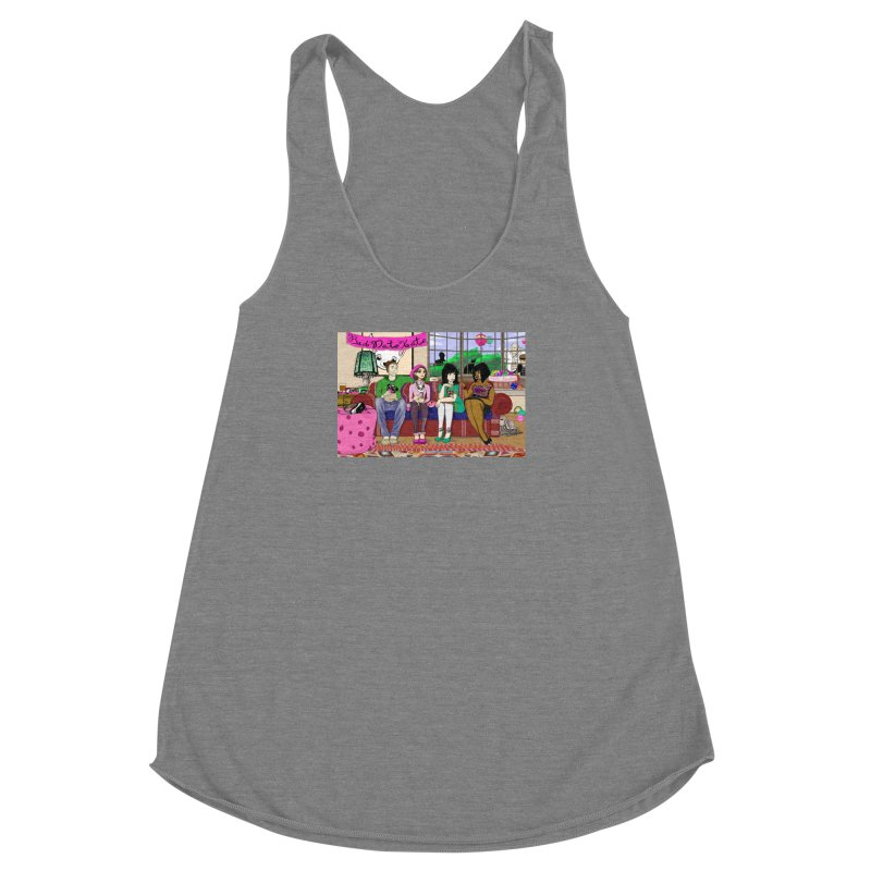 Bad Date Kate Animated Series Women's Racerback Triblend Tank by Bad Date Kate's Artist Shop