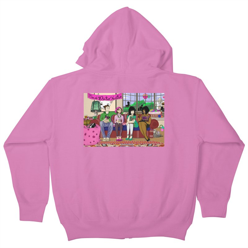 Bad Date Kate Animated Series Kids Zip-Up Hoody by Bad Date Kate's Artist Shop