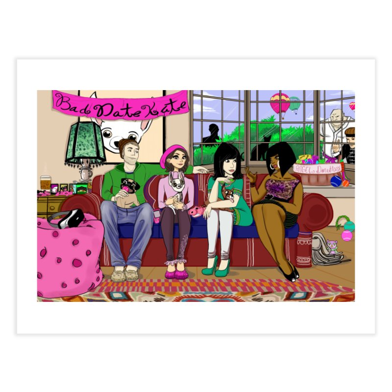 Bad Date Kate Animated Series Home Fine Art Print by Bad Date Kate's Artist Shop