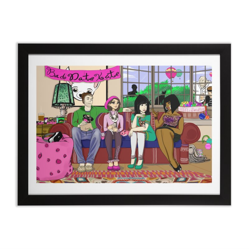Bad Date Kate Animated Series Home Framed Fine Art Print by Bad Date Kate's Artist Shop