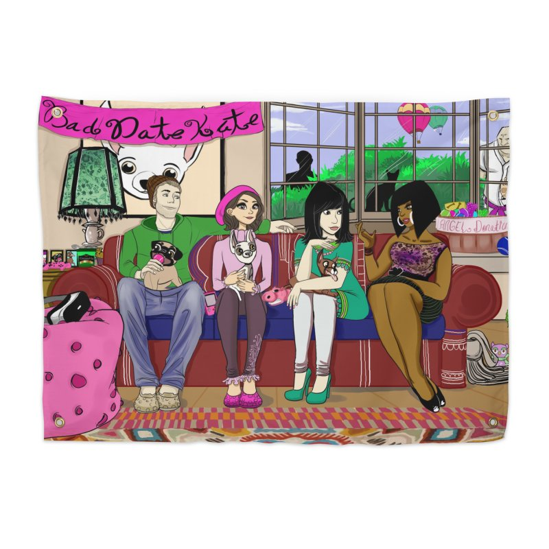 Bad Date Kate Animated Series Home Tapestry by Bad Date Kate's Artist Shop