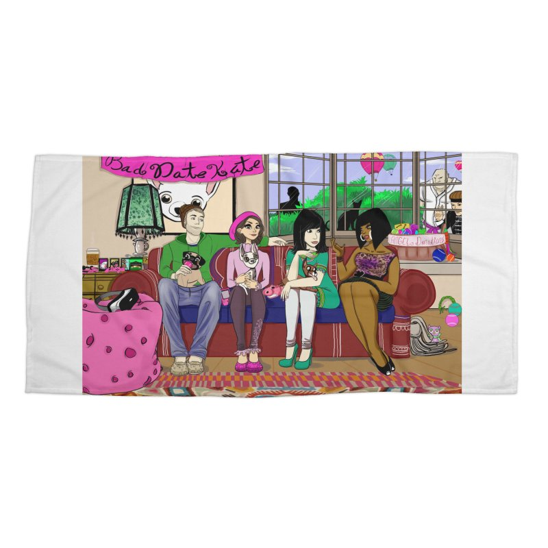Bad Date Kate Animated Series Accessories Beach Towel by Bad Date Kate's Artist Shop