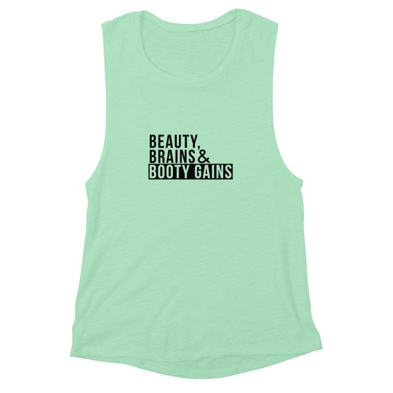 BBBG Ladies Tank in Women's Muscle Tank Mint by BaddestArmy's Boutique