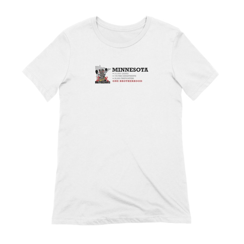 One Brotherhood (white) Women's Extra Soft T-Shirt by MN Fire Dogs