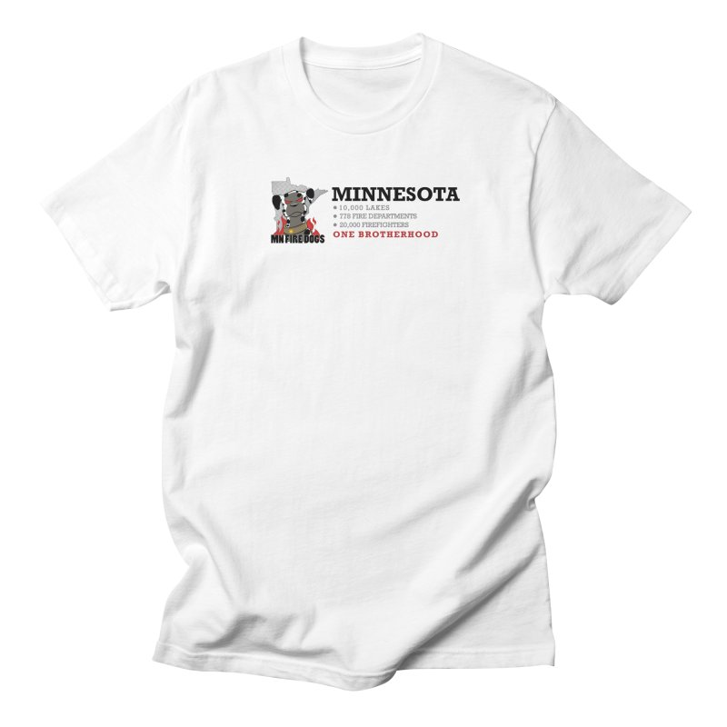 One Brotherhood (white) Men's Regular T-Shirt by MN Fire Dogs