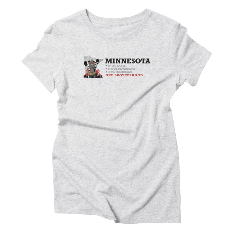 One Brotherhood (white) Women's Triblend T-Shirt by MN Fire Dogs