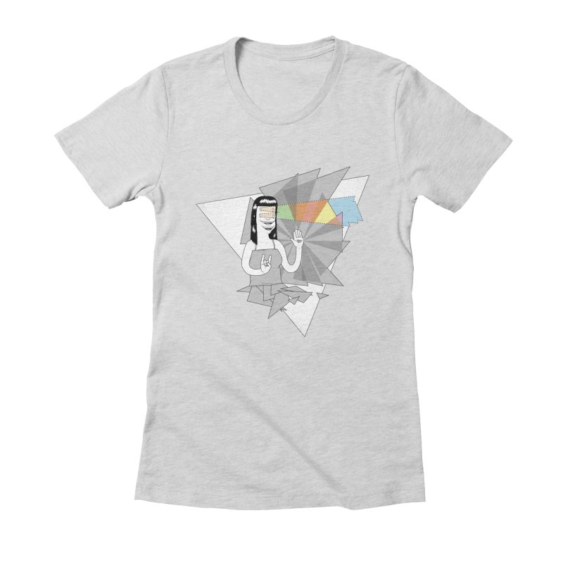 Smiles! Women's Fitted T-Shirt by Bahrnone's Artist Shop