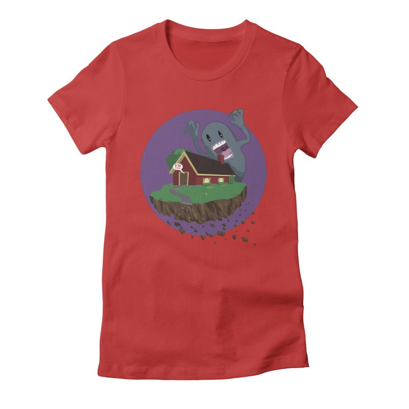 Who's There?!? Women's Fitted T-Shirt by Bahrnone's Artist Shop