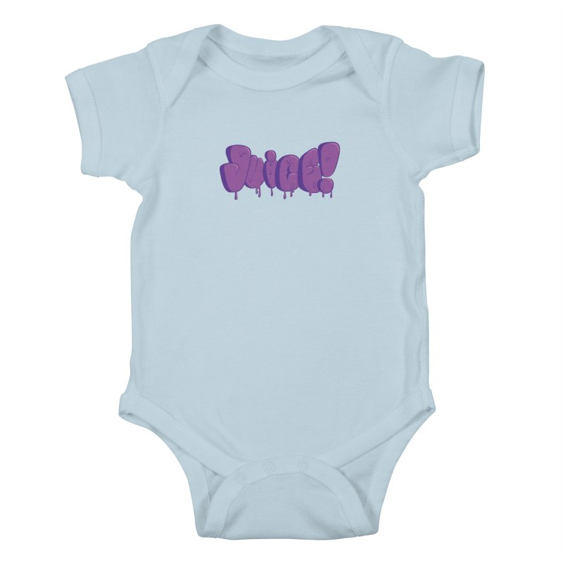Juice! Kids Baby Bodysuit by Bahrnone's Artist Shop